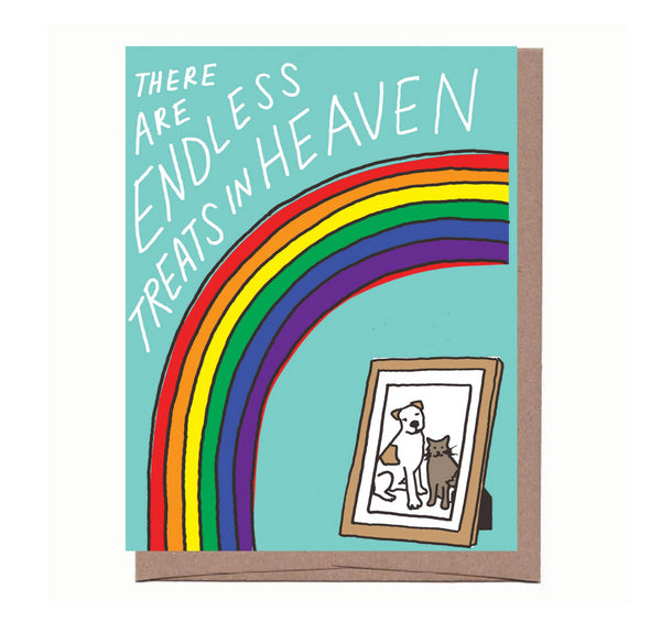 Treats in Heaven Pet Sympathy Card