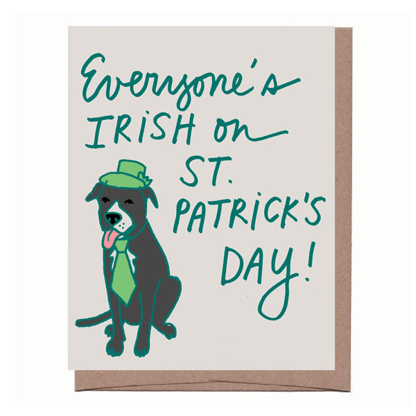 Irish Frogger St. Patrick's Day Card