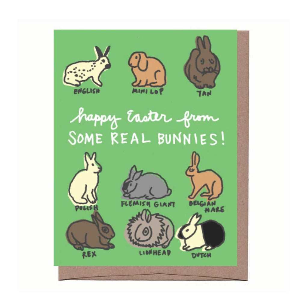 Real Bunnies Easter Card