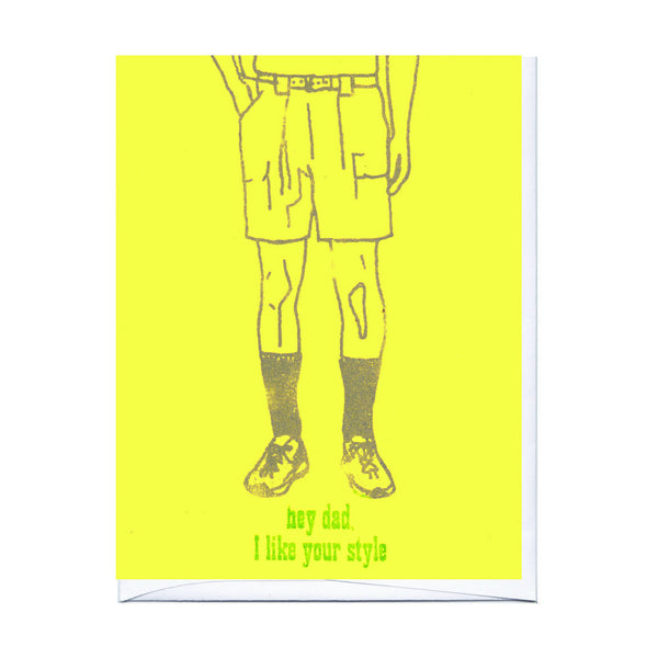 Black Socks Father's Day Card