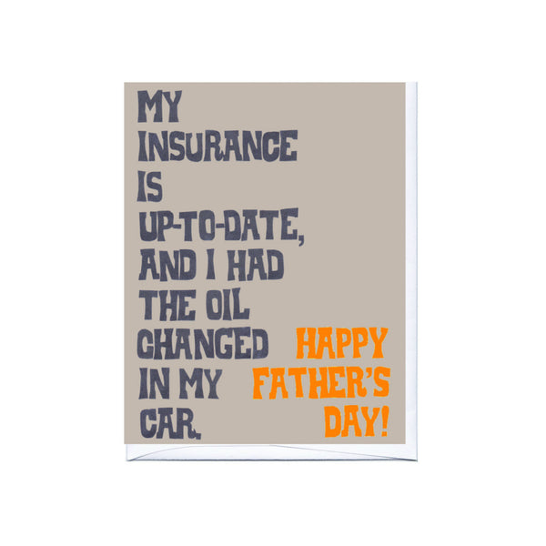Insurance Father's Day Card