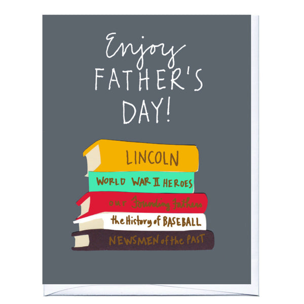 Dad Books Father's Day Card