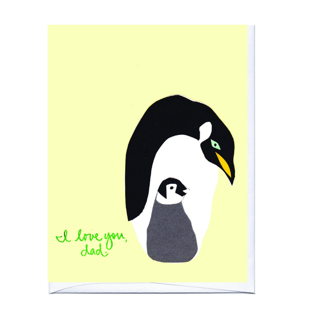 Emperor Penguin Father's Day Card