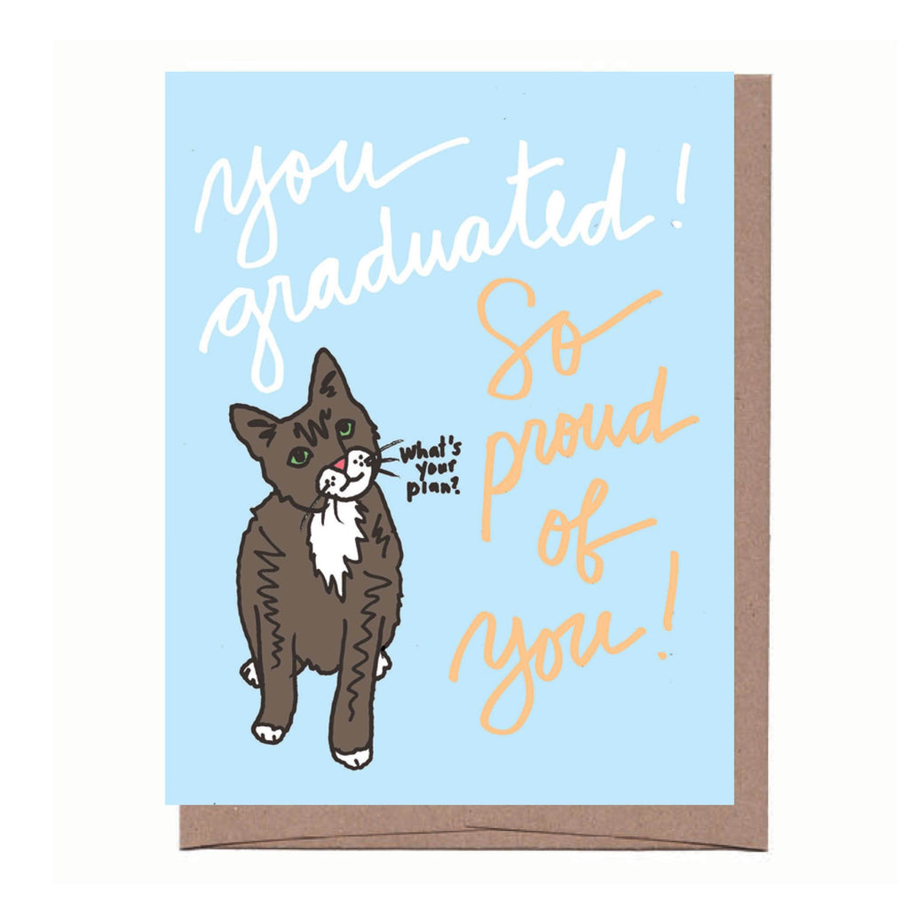 Cat Graduation Card