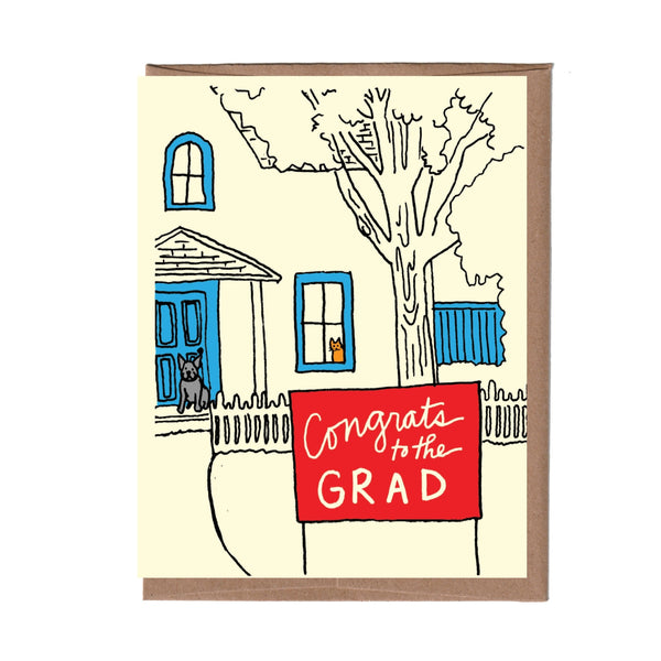 Yard Sign Graduation Card