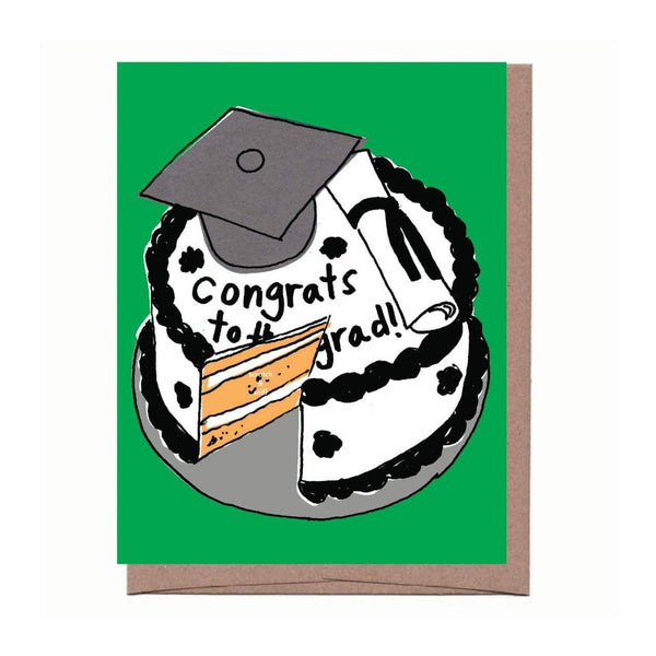 Scratch & Sniff Graduation Cake Card