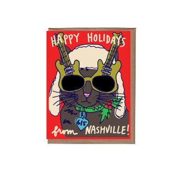 Nashville Cool Cat Holiday Card