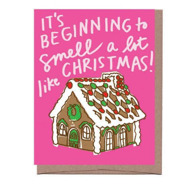 Gingerbread Scratch & Sniff Holiday Card