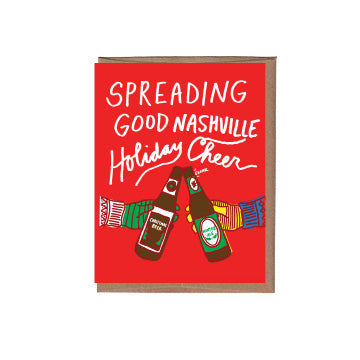 Nashville Christmas Beer Cheers Holiday Card