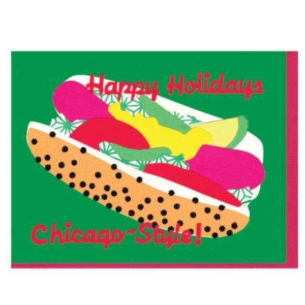 Chicago Hot Dog Holiday Card