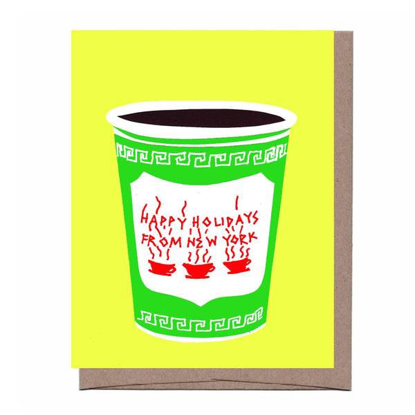NYC Christmas Coffee Card