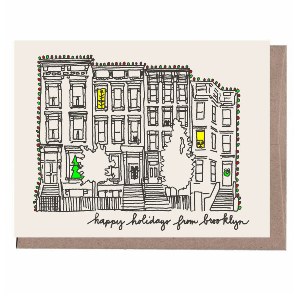 Brooklyn Brownstone Holiday Card