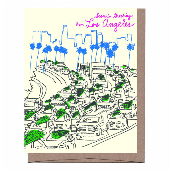 LA Traffic Trees Holiday Card
