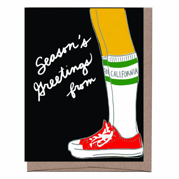 California Knee Socks Holiday Card