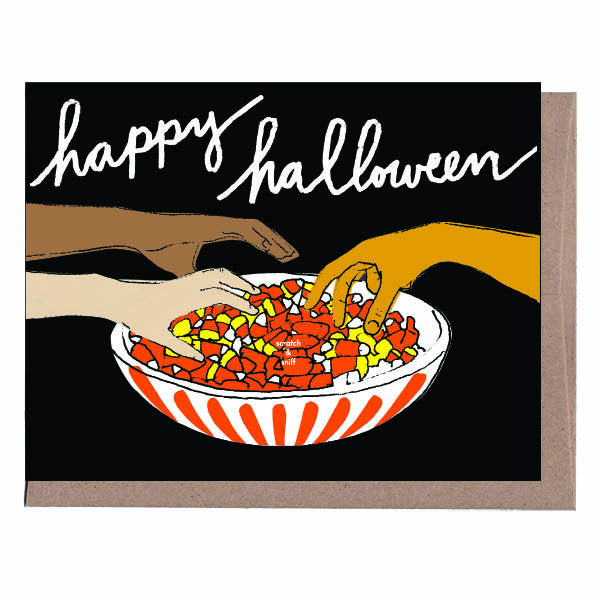 Scratch & Sniff Candy Corn Halloween Card