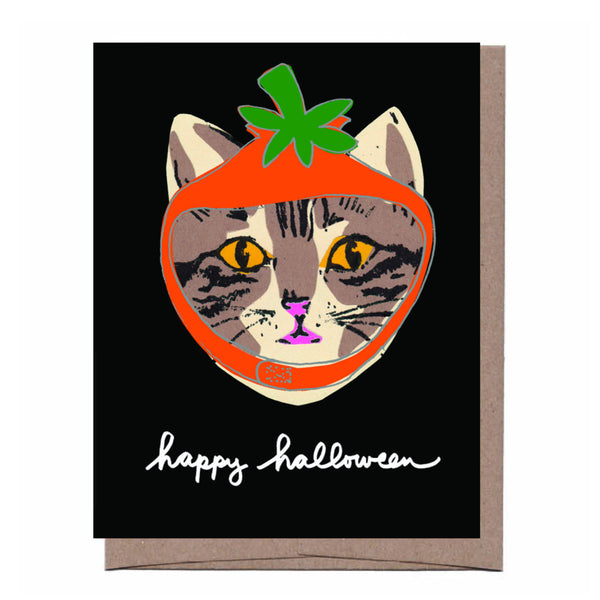Pumpkin Cat Halloween Card