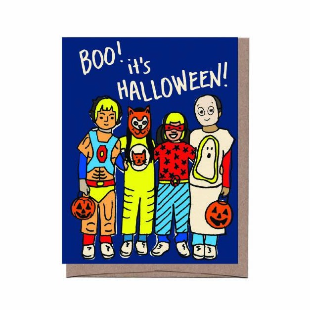 Costume Kids Halloween Card