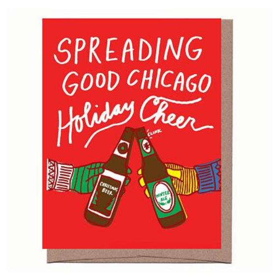 City Christmas Beer Cheers Holiday Card