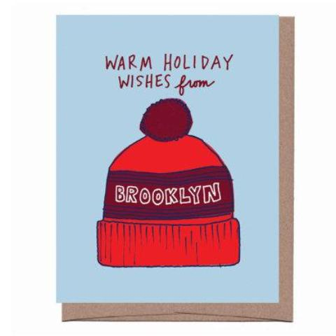 Brooklyn Pom Hat Holiday Card