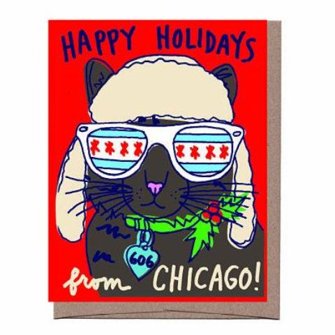 Chicago Cool Cat Holiday Card