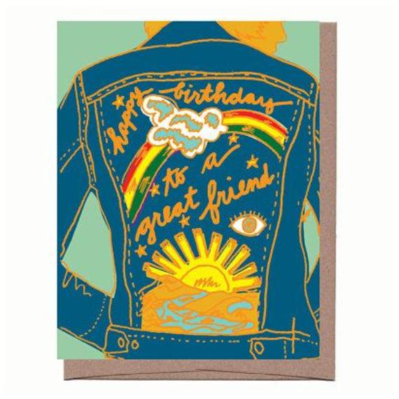 Friend Jacket Birthday Card