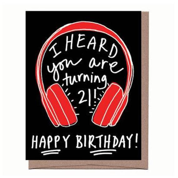 Wireless Headphones 21st Birthday Card