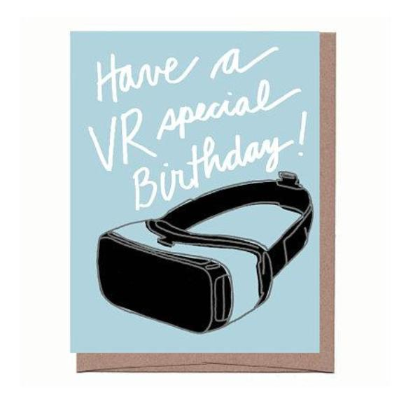 VR Special Birthday Card