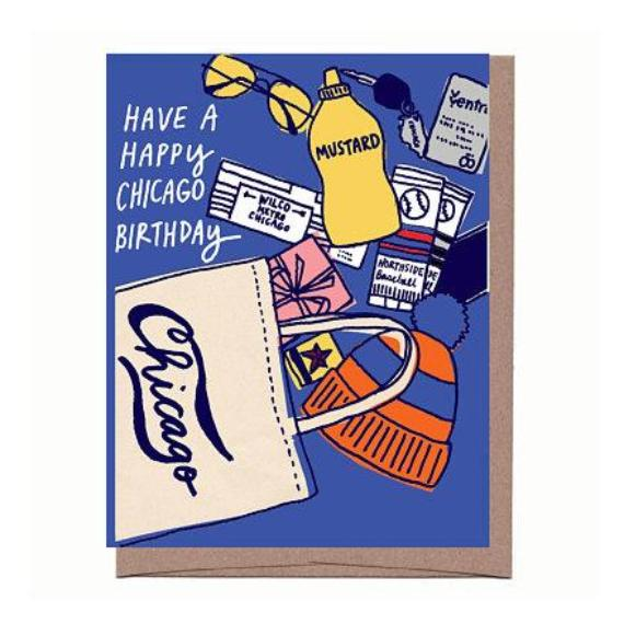Chicago Tote Bag Birthday Card