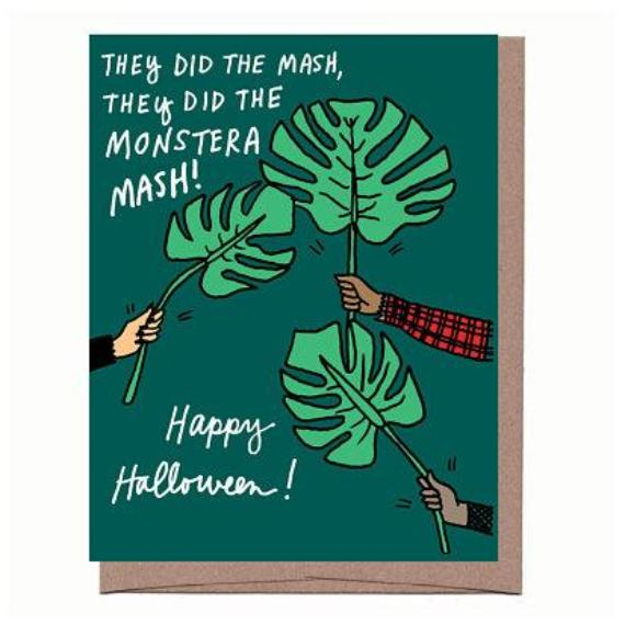 Monstera Mash Halloween Card