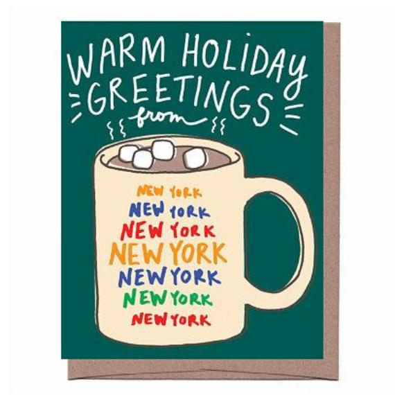 City Mug Scratch & Sniff Holiday Card