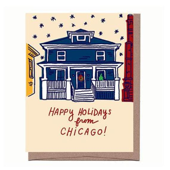 Chicago Holiday House Card