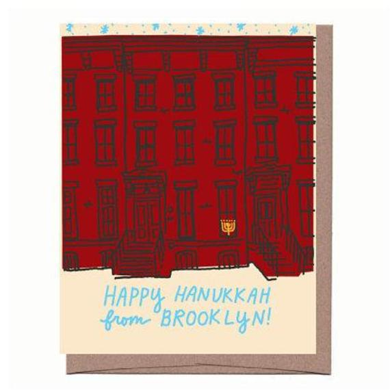 Brooklyn Hanukkah Brownstone Card
