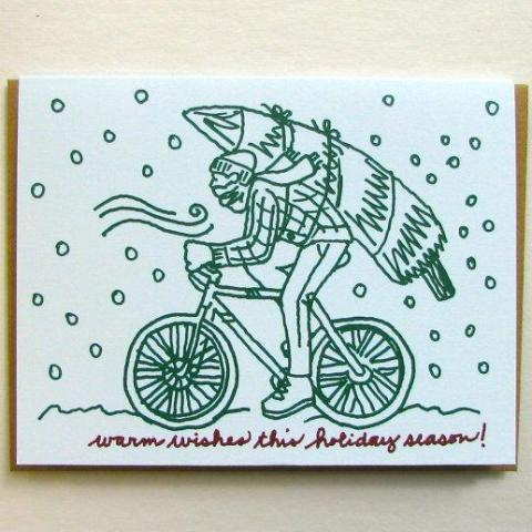 Winter Bike Holiday Card