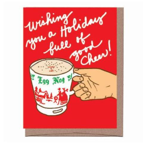 Eggnog Scratch & Sniff Holiday Card