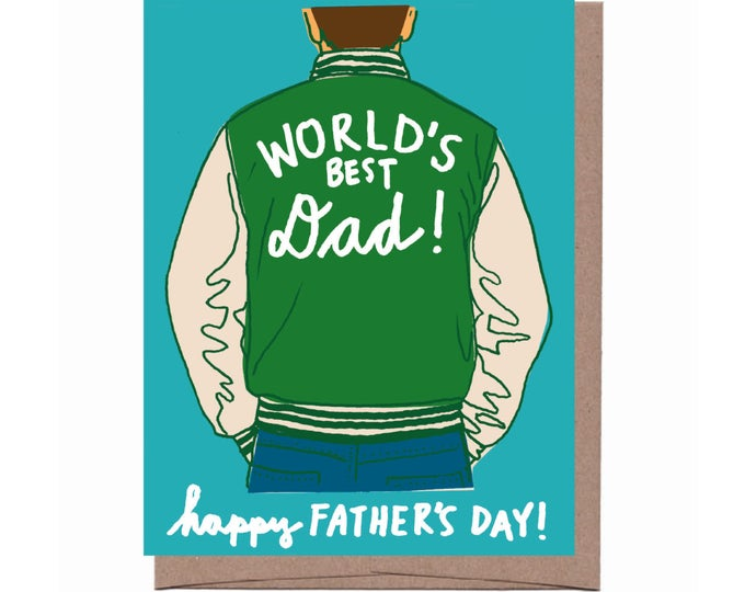 Dad Varsity Jacket Father's Day Card
