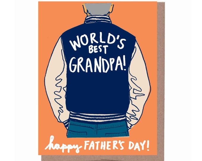 Grandpa Varsity Jacket Father's Day Card