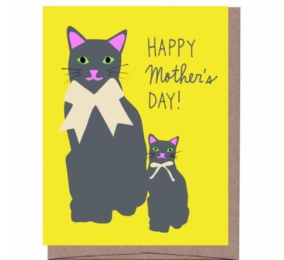 Cat & Kitten Mother's Day Card