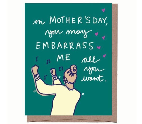 Dancing Mom Mother's Day Card