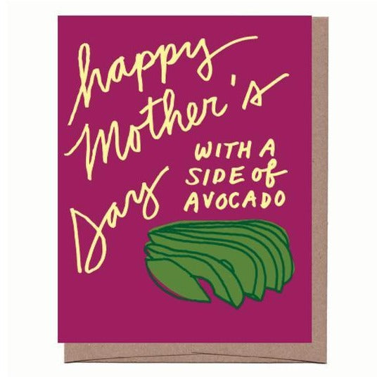 Side of Avocado Mother's Day Card