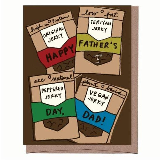 Scratch & Sniff Jerky Father's Day Card