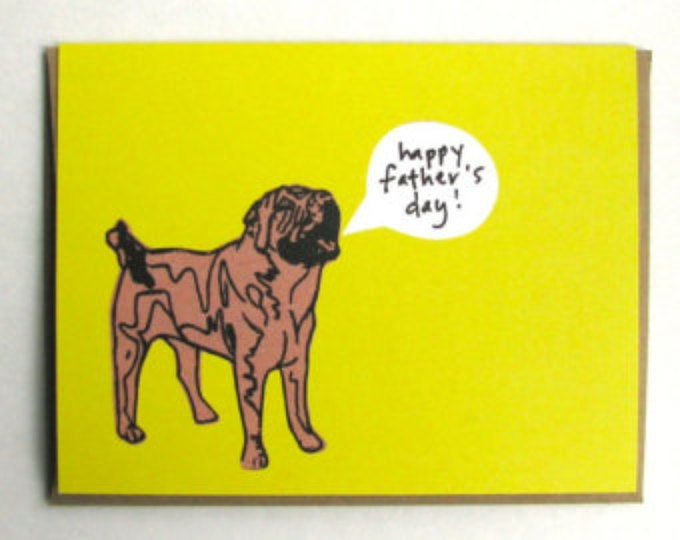 Shar Pei Father's Day Card