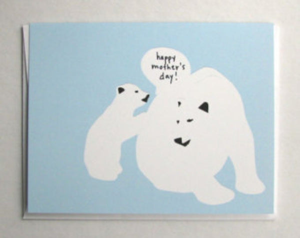 Polar Bears Mother's Day Card