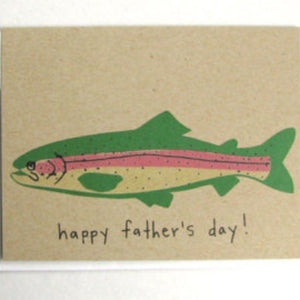 Trout Father's Day Card