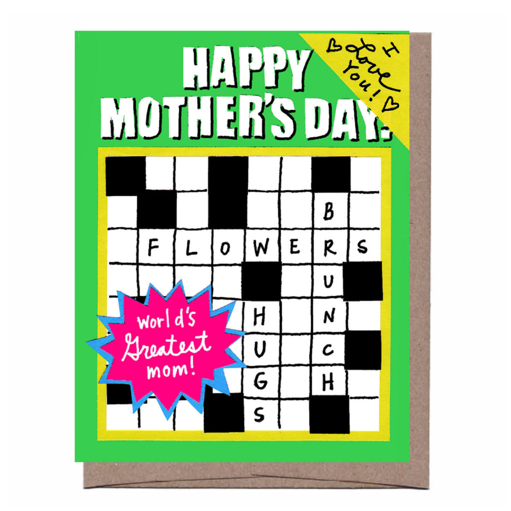 Puzzle Books Mother's Day Card
