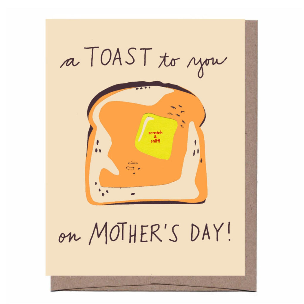 Scratch & Sniff Toast Mother's Day Card