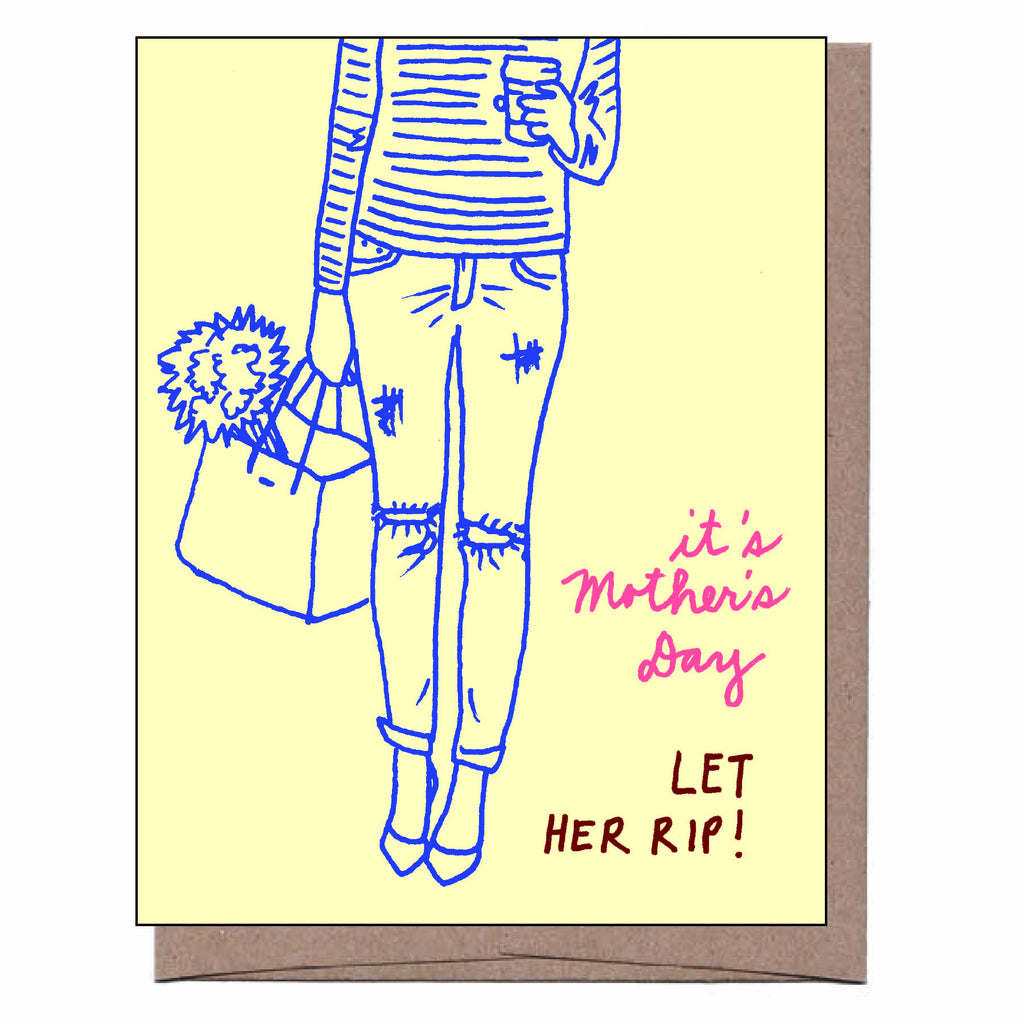 Let Her Rip Mother's Day Card