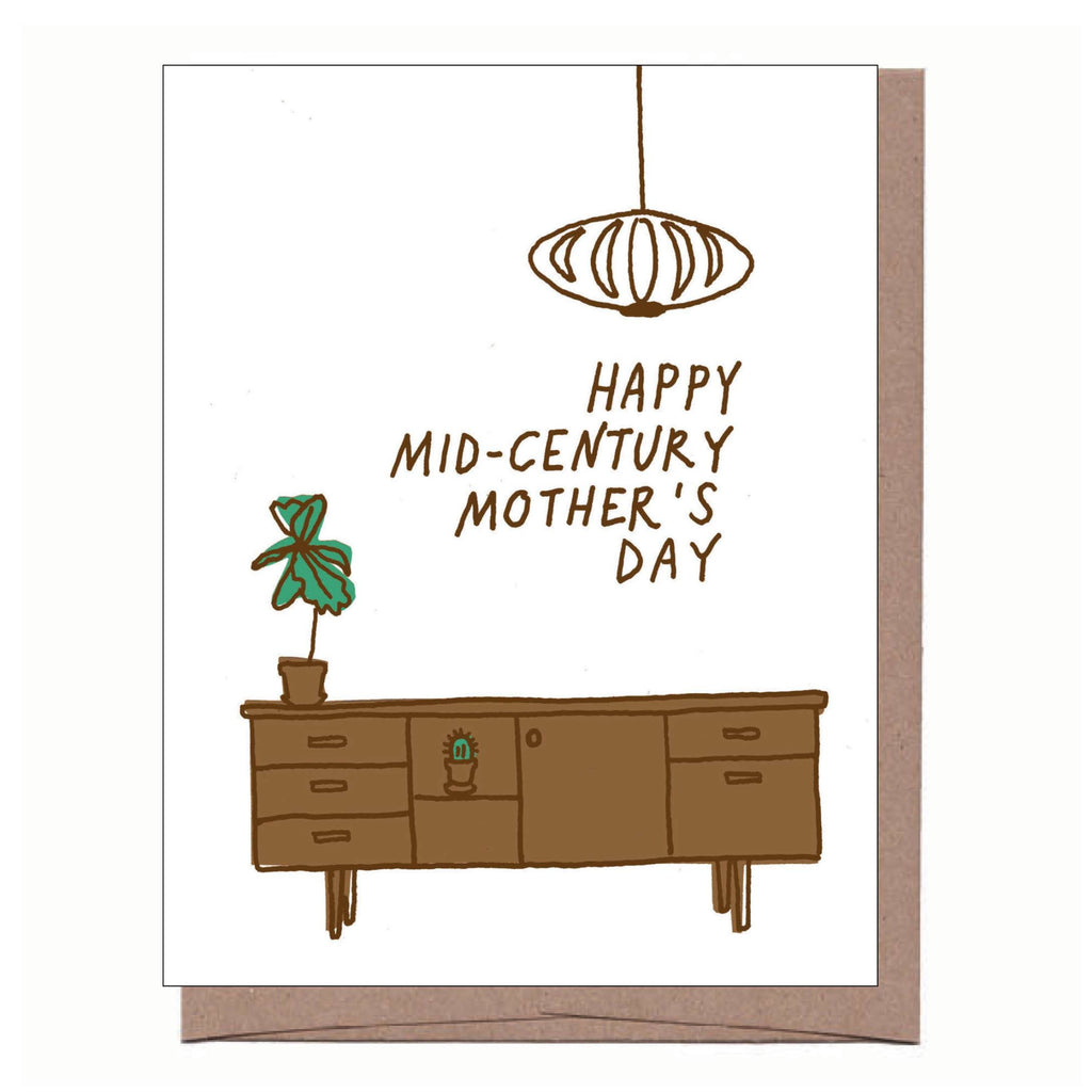 Mid-Century Mom Mother's Day Card