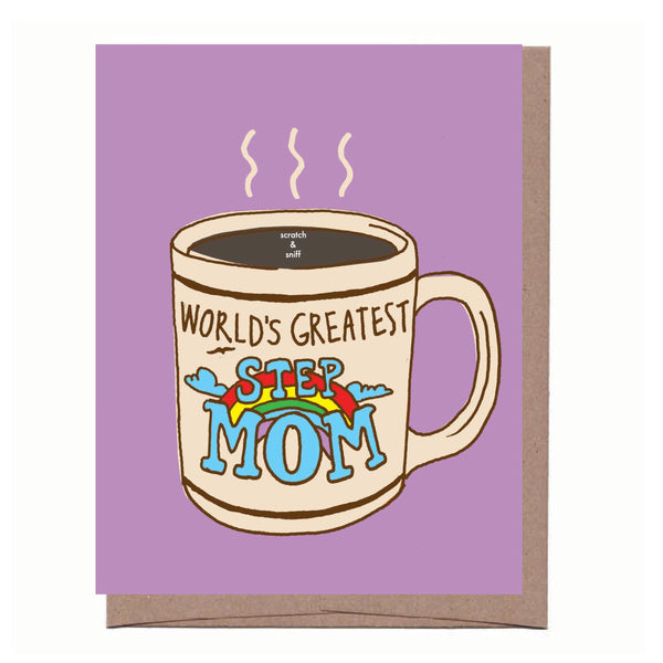 Scratch & Sniff Step Mom Mug Mother's Day Card