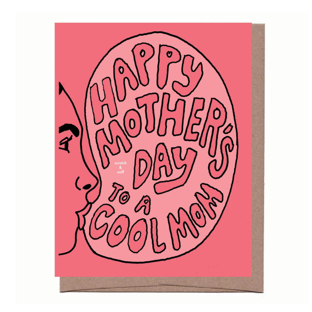 Scratch & Sniff Bubble Gum Mother's Day Card