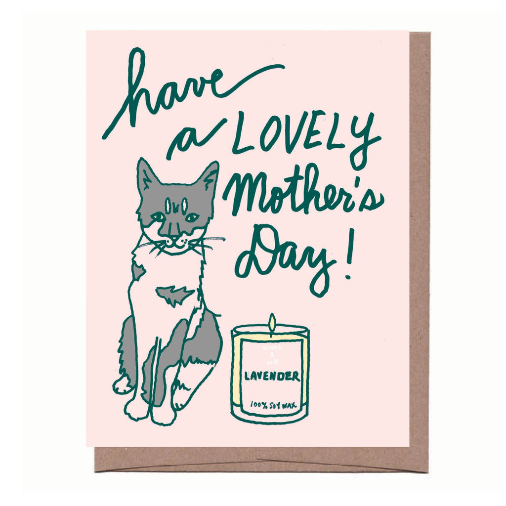 Scratch & Sniff Cat + Candle Mother's Day Card